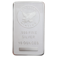 10 OZ SILVER BAR VARIOUS BRANDS