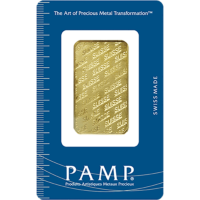 1 OZ GOLD BAR PAMP .9999 FINE