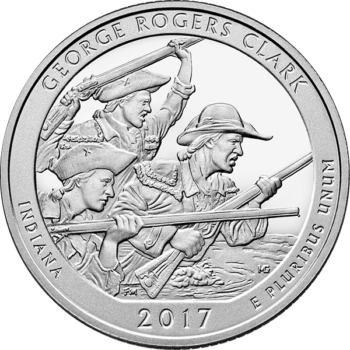 2017 5 OZ SILVER ATB GEORGE ROGERS CLARK NATIONAL PARK