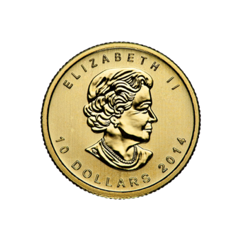 1/4 OZ CANADIAN GOLD MAPLE LEAF (IN PLASTIC)