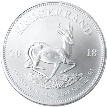 2018 1 OZ SOUTH AFRICAN SILVER KRUGERRAND