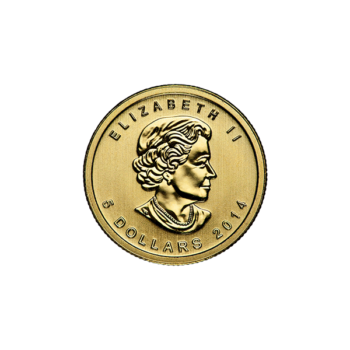 1/10 OZ CANADIAN GOLD MAPLE LEAF (IN PLASTIC)