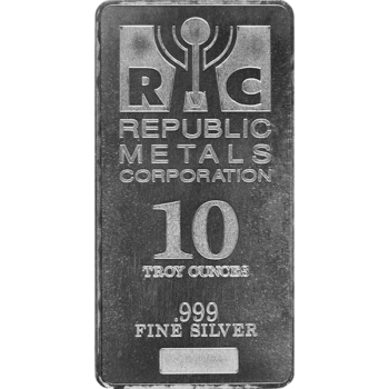 10 OZ SILVER BAR REPUBLIC