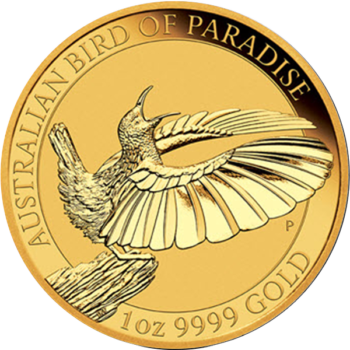 2018 1 OZ GOLD BIRD OF PARADISE