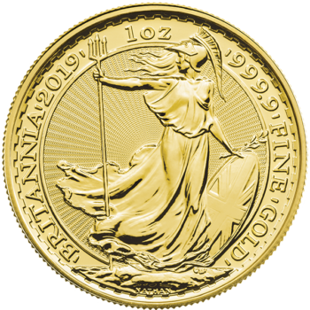 2019 1 OZ GREAT BRITAIN GOLD BRITANNIA