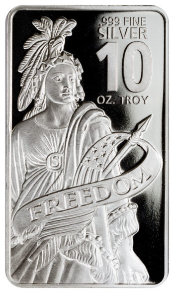 10 OZ SILVER BAR – Our Choice